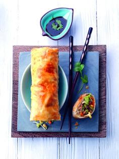Uit de Miele combi-stoomoven: aziatische strudel. Gezond, delicious. & Oosters. Extra lekker uit de Miele combi-stoomoven!