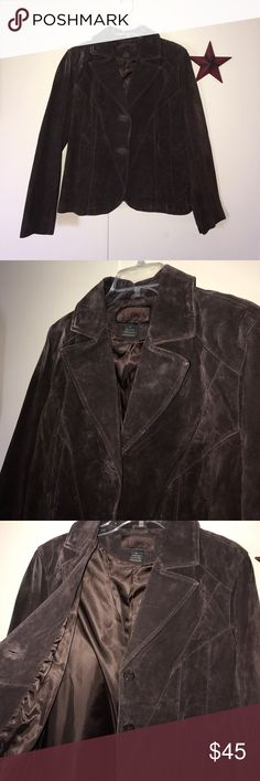 Siena Leather Blazer Gently used, 100% leather, Siena Blazer. In beautiful condition. Ready to be worn, loved and joining your closet! Size 16. Siena Jackets & Coats Blazers