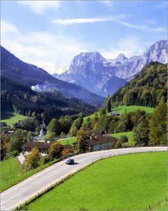 The village of Ramsau,Berchtesgaden in Bavaria