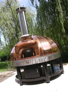Le Panyol Copper Wood Fired Oven | Atlantic Cape Community College | Made by Maine Wood Heat Company