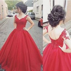 2017 Custom Made Red Prom Dress, Sexy Off The Shoulder Evening Dress,Beading Party Gown,Tulle Prom Dress,High Quality,292
