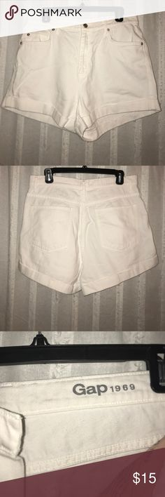 Gap High Waisted Jean Shorts NWOT! Perfect condition, never worn. High waisted white denim shorts. GAP Shorts