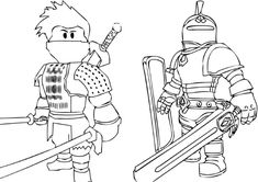 roblox coloring pages knight and ninja e1542360425510 knight ninja color coloringpages