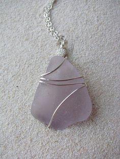 seaglass pendant $18