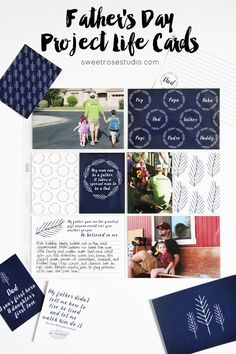 Father's Day Project Life Cards at Sweet Rose Studio