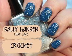 Sally Hansen Luxe Lace Crochet swatches and review | CoaSMom