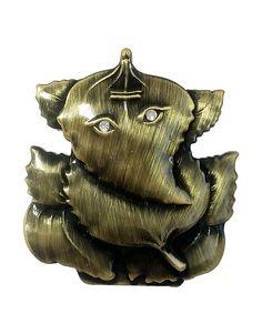 @Returnfavors presents a showpiece of home decor metal casting ganesha statue. http://www.returnfavors.com/leaf-style-metal-car-ganesha-statue-by-returnfavors/