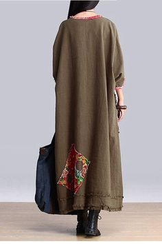 Art Maxi Size Casual Loose Long Dresses Women Clothes Q2601A  Clothes will not shrink,loose Cotton fabric, soft to the touch.!!!!!Care: hand wash or machine wash gentle, best to lay flat to dry.*Material:Cotton   *Color : Photo Colors*Measurement: Bat Sleeve Bust:148 cmWaist:146 cmSweep:156 cmLength:124 cmSleeve Length:27 cmCuff:28 cm  =============================================*Shipping:Orders will be processed and shipped within five (5) business days of the order date, excluding…