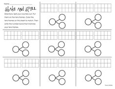 Shake and Spill Number Bonds - Simply Skilled In Second - TeachersPayTeachers.com