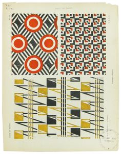 "Jenny Florence: ""[The book] Tapis et Tissus. Published in 1929, the book has a foreword by Sonia Delaunay, and features a couple of her textile designs, and designs chosen by her, including some from the Bauhaus weaving workshop, Anni Albers. http://jennyflorence.blogspot.de/2011/03/tapis-et-tissus-presente-par-sonia.html"