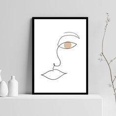 Gaia Shape female face I, αφίσα, κάδρο Female Face, Gaia, Woman Face, Line Art, Shapes, Poster, Home Decor, Decoration Home, Room Decor