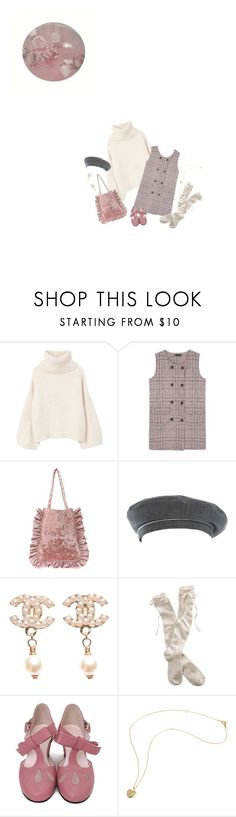 """""""#442"""" by k-ura ❤ liked on Polyvore featuring MANGO, Hermès, Chanel and Aerie"""