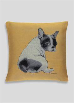 Jacquard Dog Cushion (48cm x 48cm)