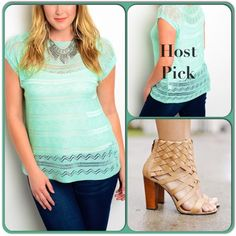 Light and Comfy Mint sweater-Black Friday Deal This pretty sweater top is made of 100% acrylic and is light fitting and comfortable.can be perfectly paired with slacks, jeans and skirts. (This closet does not trade or use PayPal) Sweaters Crew & Scoop Necks