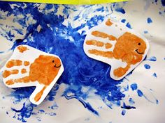 Fish Hands! Would look so cute in my bathroom (its fishy themed) for the daycare kids!