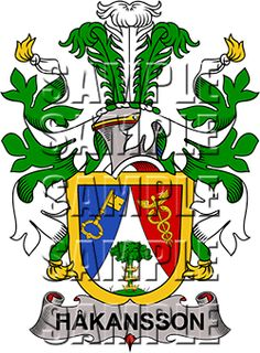 Hakansson Family Crest apparel, Hakansson Coat of Arms gifts