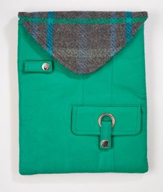 Spring Sale Green Leather iPad Case by GreenReincarnations on Etsy