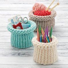 Loom Knit Nesting Baskets