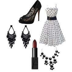 A fashion look from November 2014 featuring Vince Camuto pumps and Oasis earrings. Browse and shop related looks.