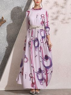 Buy Summer Dresses Maxi Dresses For Women from Misslook at Stylewe. Online Shopping Stylewe Summer Dresses Sundress Evening Swing Stand Collar Paneled Evening Sleeve Dresses, The Best Going Out Maxi Dresses. Discover unique designers fashion at stylew Spring Fashion, Girl Fashion, Fashion Design, Stylish Outfits, Stylish Clothes, Pinterest Fashion, Couture Fashion, Skirt Set, Sleeve Dresses