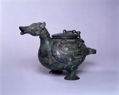 Wine Ewer (He) in the Form of a Standing Duck, probably 5th century BC Alternate Title: ho Vessel Chinese , 5th century BC Zhou dynasty, Warring States period, 475-221 BC