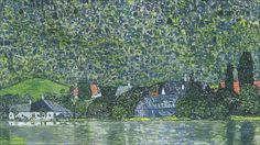 Litzlberg on the Attersee... Klimt painting fetches $40,400,000. The work, a 1915 Gustav Klimt landscape, depicts a lake in western Austria. It was looted by the Nazis and recently returned to the owner's grandson, who sold it for $ 40.4m (£ 25.4m) at a New York auction.