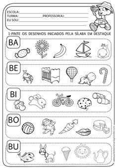 A Arte de Ensinar e Aprender: Atividade pronta - Família silábica do B                                                                                                                                                                                 Mais