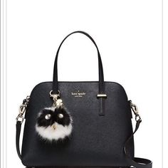 Authentic Kate Spade Pom Pom keychain Authentic Kate Spade Pom Pom Owl Keychain ' in excellent condition 'a must accessory to have this fall/ winter ' can be used as keychain or attached to handbags! Celebrities like Kylie jenner, Selena Gomes & so on' have been rocking these cool keychains! Great bargain! kate spade Accessories Key & Card Holders