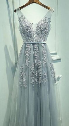 A-line Tulle Long Prom Dress with Applique and Pearl,Popular Real Photo Wedding Party Dress,Fashion Evening Dresses PDS0222