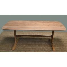Retro, Mid-Century Modern, Solid Elm 'Pebble' Dining Table - Antique Tables