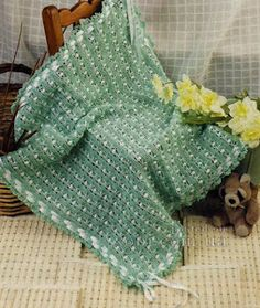 Crochet Patterns: Crochet Patterns| for free |lacy baby blanket croc... Crochet Quilt, Crochet Blanket Patterns, Baby Blanket Crochet, Crochet Hooks, Crochet Baby, Free Crochet, Knit Crochet, Crochet Blankets, How To Make Bows
