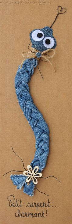 Petit serpent charmant ! #jeans #recycle