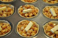 Good idea to make mini pies so you eat less.  And they are really cute!