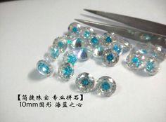 multicolor cz. the swiss blue heart. 10mm round shape. be beautiful when using in rings. from Jianjie GEMS. http://jianjiezhubao.1688.com