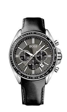 Hugo Boss Mens 1513085 Black Leather Quartz Watch *** Check out this great product.
