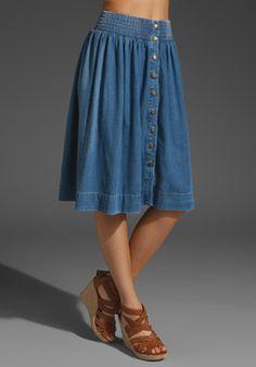 current elliot midi skirt