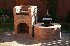 Date added=Sep 2011 Backyard Fireplace, Fire Pit Backyard, Backyard Bbq, Backyard Landscaping, Outdoor Stove, Outdoor Fire, Backyard Kitchen, Outdoor Kitchen Design, Brick Grill