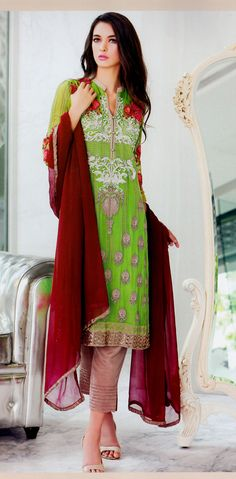 58f09e38c4 Desi Clothes, Indian Suits, Salwar Kameez, Kurti, Pakistani Outfits, Clothes  For