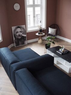 Blue Wool Sofa - LENE ORVIK Sofa, Couch, Blue Wool, Lounge, Furniture, Home Decor, Airport Lounge, Settee, Settee