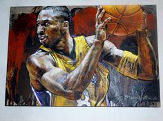 Kobe Bryant LA Lakers Original painting - Stephen Holland Sports Art Los Angeles
