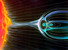 This is an idea of how we can imagine the #magnetic forces between #Earth and the #Sun.