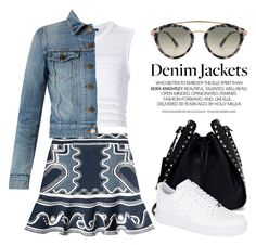 """""""Denim Jacket 3728"""" by boxthoughts ❤ liked on Polyvore featuring Peter Pilotto, Thakoon, Yves Saint Laurent, Valentino, NIKE and Westward Leaning"""
