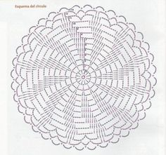 HELLO!!! SEGUIMOS EN EL MES DE LOS MANDALAS!!! Y, que tal? Ya se animaron a participar de este reto amistoso!!!! Para quienes n... Crochet Motif Patterns, Crochet Diagram, Filet Crochet, Crochet Designs, Crochet Stitches, Crochet Gratis, Quick Crochet, Crochet Round, Crochet Dollies