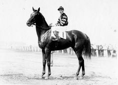Man o' War -- The oldest track record at Belmont Park belongs to the immortal Man o' War. On September 4, 1920, he ran the 1 5/8 miles Lawrence Realization in 2:40 4/5. Not only did he better the world record by six seconds, but he was 100 lengths in front of his only competition.