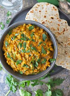 This lusciously creamy and easy Lentil Curry is made with staples from our pantry such as canned lentils, canned pumpkin, and canned coconut milk. Quick, delicious and filling, this vegan lentil curry had us licking our plates! Vegetarian Appetizers, Vegetarian Recipes Easy, Veggie Recipes, Indian Food Recipes, Cooking Recipes, Indian Foods, Veggie Meals, Asian Recipes, Ethnic Recipes