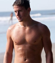 Sexiest Man Alive Channing Tatum. Shirtless. On a beach.