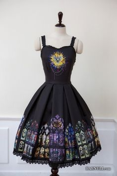 Nice, especially the skirt. You could wear SO many different colored cardigans with this to accentuate the stained-glass. The possibilities!