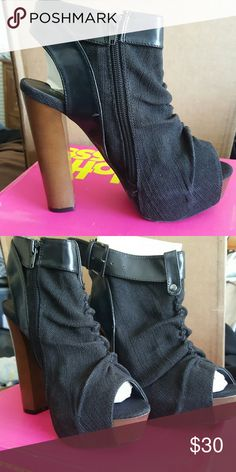 Charlotte Russe Black Shoes Shoes are like new and have only been worn one time. Charlotte Russe Shoes Heels