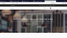 Share Multiple Links In One Link In Bio Landing Page - Link Management