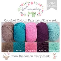 Crochet Colour Palette: Dear Delilah - The Homemakery Blog